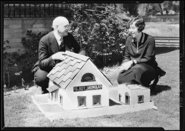 Model house showing shingles, Southern California, 1928