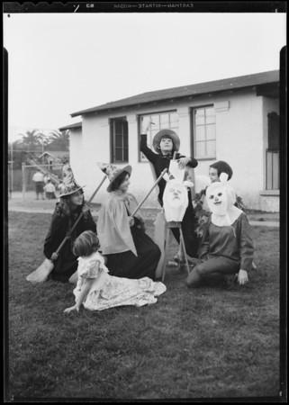 Halloween costumes, Wabash playground, Los Angeles, CA, 1931