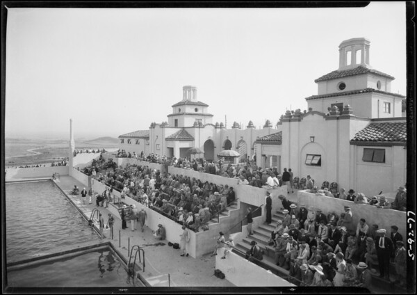 Opening of Norco pool, Southern California, 1928