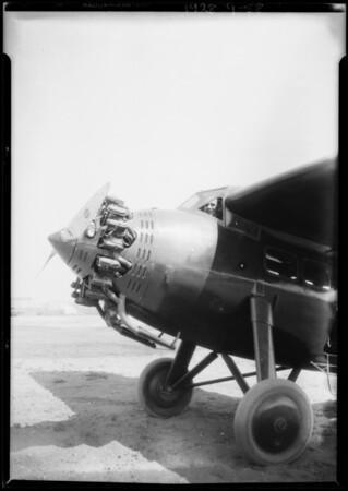 Man in Maddux Lockheed at Rogers Airport, Los Angeles, CA, 1928