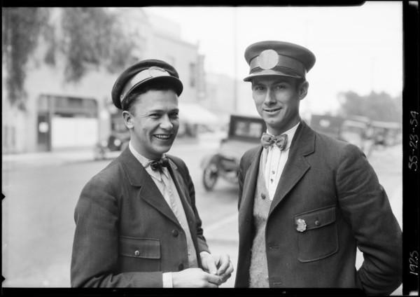 Yellow Cab men, Hollywood Garage, Southern California, 1925