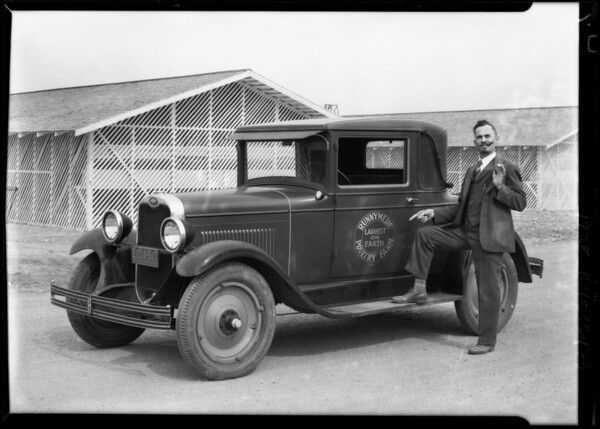 Publicity shots, (chickens), Southern California, 1928