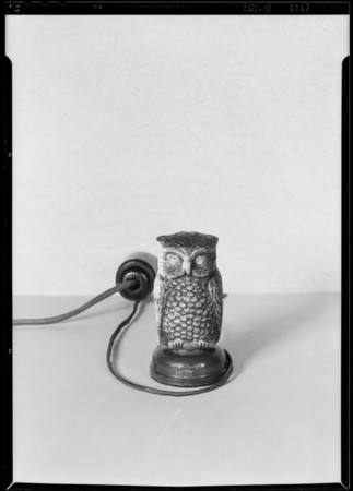 Radio owl and box, Southern California, 1929