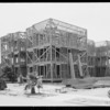 Building being completed in Glendale, CA, 1925