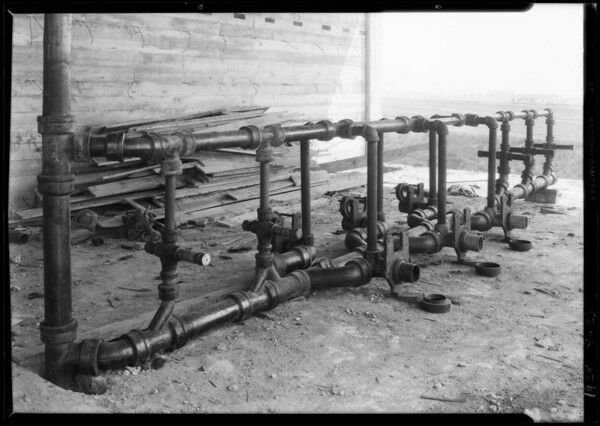 Plumbing at new University of California, Los Angeles, Los Angeles, CA, 1928