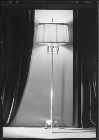 Floor lamp, The May Co., Southern California, 1929