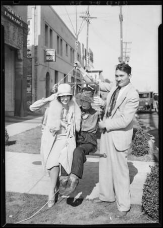 Mary Brian & balloon, Southern California, 1928