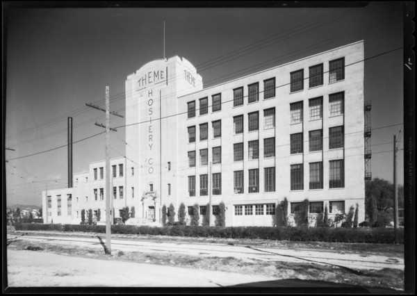 Theme Hosiery Co. building, Southern California, 1930
