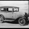 Ford sedan, E. L. Smith & sons, owners, Southern California, 1931