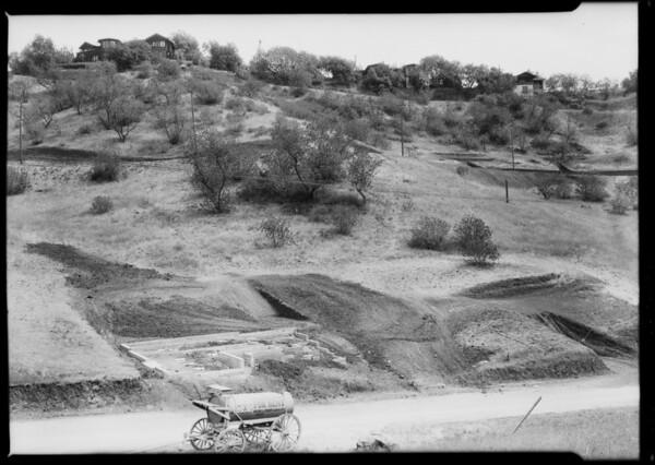 Progress of houses in Highland Villa Park, Southern California, 1925