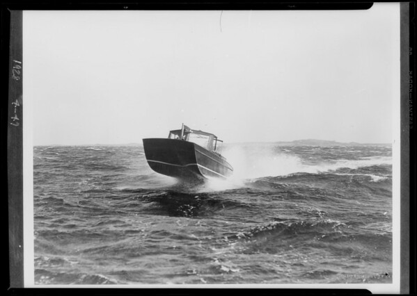 Copy of water sled, Southern California, 1928