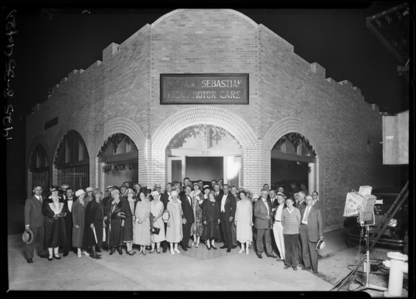 Flashlights of Carlos Sebastian Elcar Opening, 5336 Sunset Boulevard, Los Angeles, CA, 1925