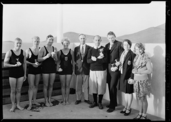 Olympic champions at Norco, CA, 1928