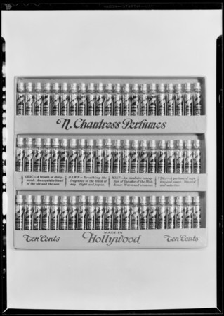 Boxes of glazed fruit, Hollywood Laboratories, Southern California, 1930