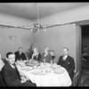 Christmas dinner, Mrs. Hulda Johnson, Southern California, 1929