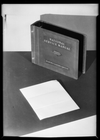 Retake on National Service Manual, Southern California, 1931