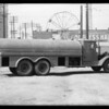 Oil trucks for Marsh, the artist, Southern California, 1931