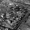 An aerial view of the University of Southern California (USC) and its surrounding area