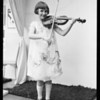 Girl playing violin, Broadway Department Store, Southern California, 1925