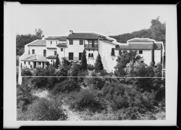 House in 'Bel Air', Los Angeles, CA, 1931