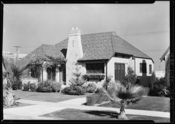 Houses for office walls, Southern California, 1928