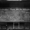 "Blackboard ""September Mourn Will Have Nothing On Us"", Southern California, 1925"
