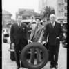 Judges pronouncing sentence on tire, Southern California, 1931