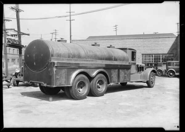 Oil truck, Southern California, 1931