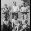 Football kicking contest, Southern California, 1931