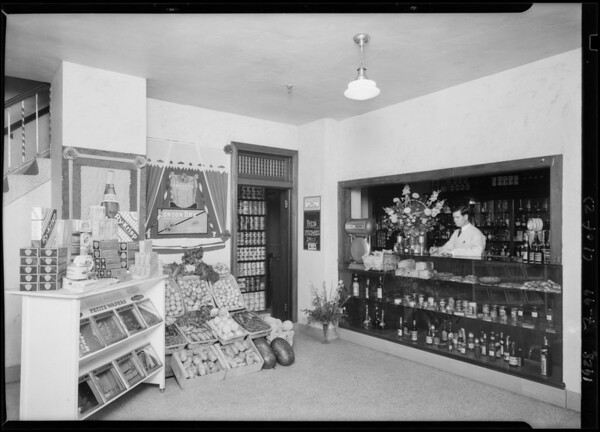 Commissary and dining table, Southern California, 1928