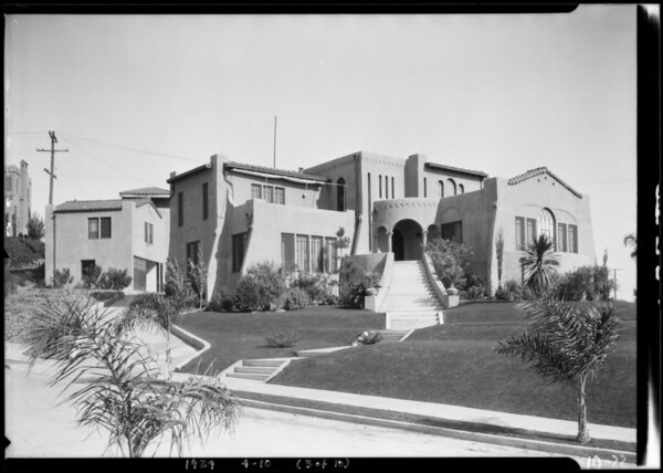 Houses on hillsides, Southern California, 1924