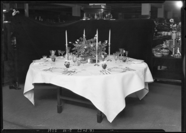 Tableware, Broadway Department Store, Los Angeles, CA, 1925
