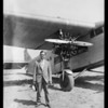 Mr. Krupp in front of Maddux plane, Southern California, 1928