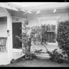House on Dundas Street damaged by automobile, Los Angeles, CA, 1931