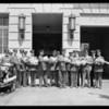 Giving bread to cops, 1335 Georgia Street, Los Angeles, CA, 1928
