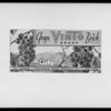 Vinto grape brick carton, Southern California, 1931