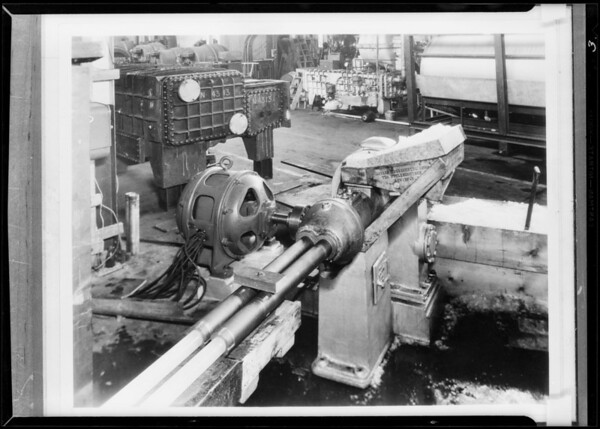 Machines & parts, Southern California, 1931