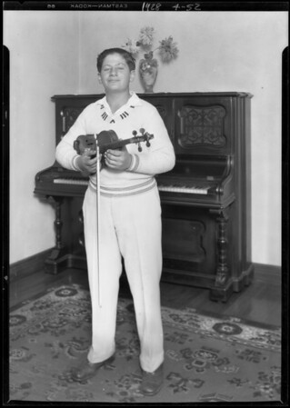 Violinist with Giroux's orchestra, Southern California, 1928