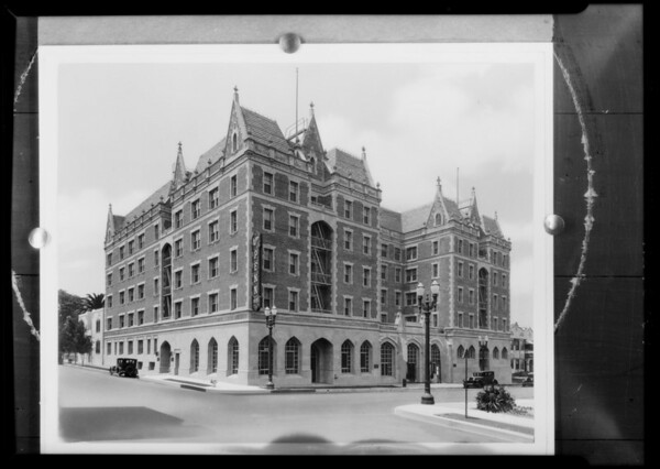 Copy after retouching, William Penn Hotel, Southern California, 1929