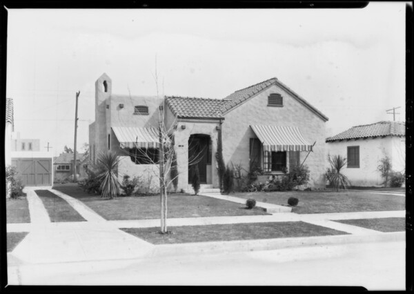 132 and 136 South Lepere, Beverly, Southern California, 1928