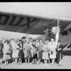 Women of Montmarte Club at Maddux Airport, Southern California, 1928