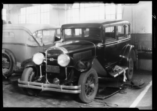 Del Porto car in Howard garage, Southern California, 1930