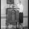 Lelia Karnelly and radio, Southern California, 1929