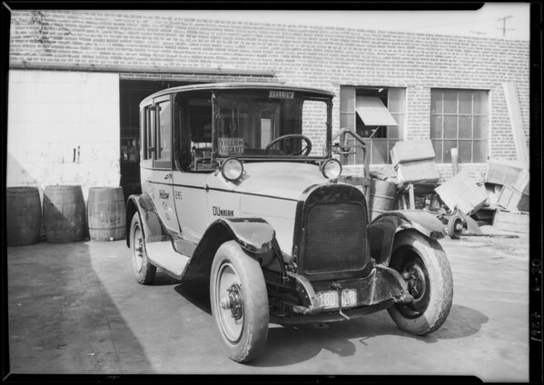 Yellow Cab Co. New Paint Job on Cab, Southern California, 1927