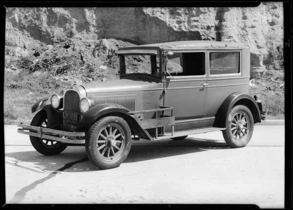 Whippet sedan belonging to Mrs. Dorothy Hollenbeck, Southern California, 1931