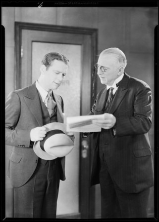 Insurance pictures in studio, Southern California, 1930
