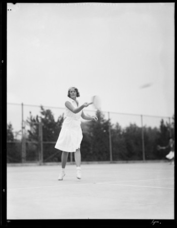 Action shots - tennis at Griffith Park, Los Angeles, CA, 1931