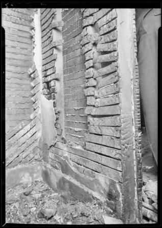 Closet in burned house at 1642 McCollum Street, Los Angeles, CA, 1931