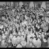 Crowd of newsboys at Hill Street theater, Los Angeles, CA, 1929
