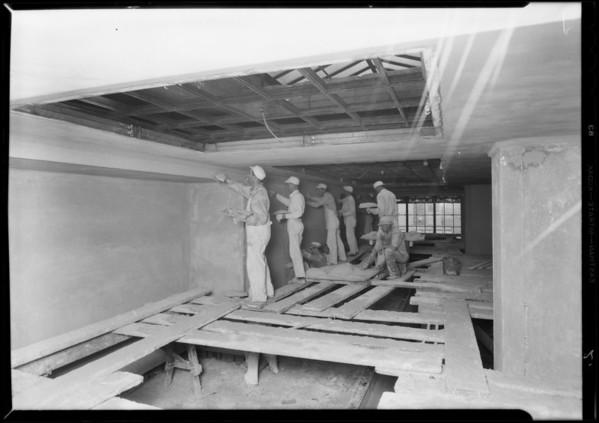 Hospital works, Los Angeles, CA, 1931